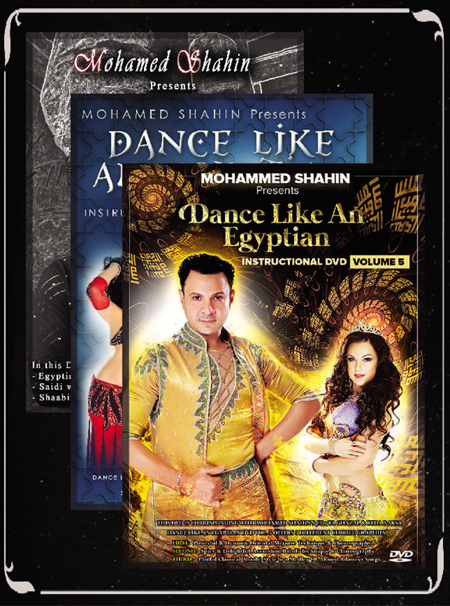 Set Of 3 DVDs of Mohamed Shahin's Dance Like an Egyptian