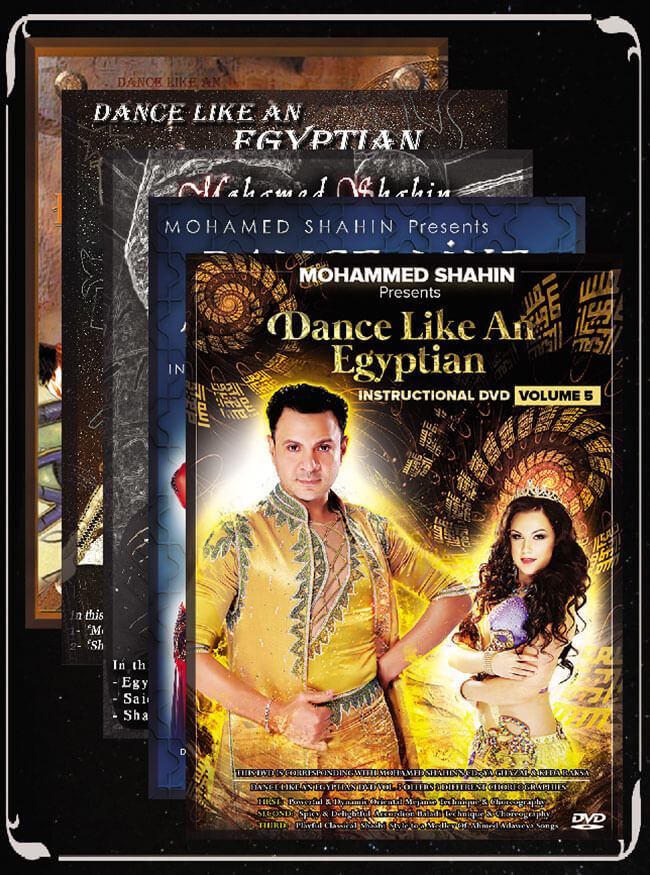 Set Of 5 DVDs of Mohamed Shahin's Dance Like an Egyptian